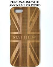 """Personalised Union Jack design Wooden bamboo iphone 6 4.7"""" Case,Cover Union Flag"""