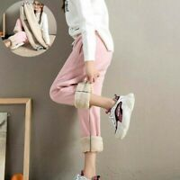 Women Harem Pants Thicken Fleece Lined Outdoor Sport Breathable Winter Pants for
