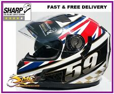Viper UK 59 Flag PINLOCK SUPPLIED Union Jack British England Motorcycle Helmet