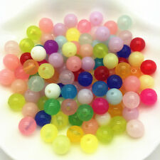 6/8/10/12/14mm Multicolor Acrylic Round Pearl Spacer Loose Beads Jewelry Making
