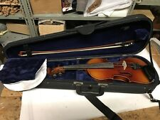 3/4 Size Czech Violin Circa 1960 With Bow Case & Fitted Dominant Strings