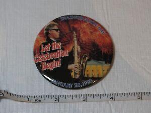 Inauguration Jour January 20 1993 Clinton Let Le Célébration Begin Bouton Broche