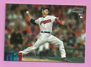 2020 Topps Stadium Club James Karinchak RC #284 Cleveland Indians
