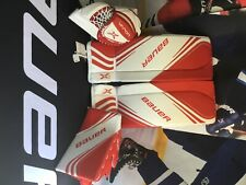 New listing Intermediate 2X Vapor Goal Pads Size Med includes Glove, Blockerl Red/Wht