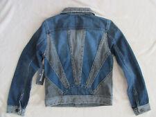 True Religion Danni Sunrise Jacket-2 Tone Denim-Studs-Elements-Size XS- NWT $289