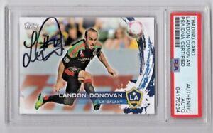 2014 Topps Landon Donovan LA Galaxy Signed Auto Trading Card #50 PSA/DNA (A)