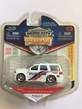 Jada Badge City Heat Police K9 Unit 03 2003 Lincoln Navigator White DieCast 1/64
