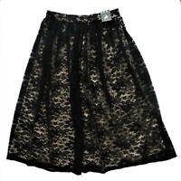 Woman Skirt PRIMARK Womens Black Sporty White Stripe Mini Bodycon A Line Uk 16 s