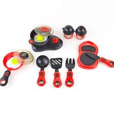 Childrens Plastic Kitchen Cooking Utensils Pots Pans Accessories Set Kids Toy SH