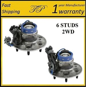 FRONT Wheel Hub Bearing Assembly For 04-08 CHEVY COLORADO 2WD; Exc.Z71; Z85 PAIR