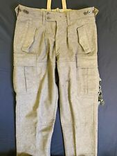 Wilh Schwarz Vintage German Military Wool Pants 38x 29 Green Thick Warm Winter