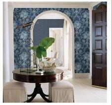 """BHF FD22748 """"Mirabelle Cameo Damask Winsome Floral"""" Wallpaper - Blue (Batch 3)"""