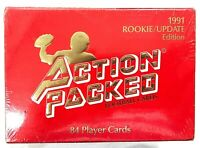 1991 Action Packed Rookie Update Edition Set 84 Cards Farve FACTORY SEALED