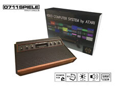Atari 2600 Woodgrain mit UAV (AV/S-Video), LED Umbau, Zubehörpaket, Verpackung