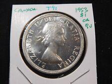 T41 Canada 1953 Silver Dollar Choice BU