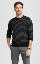 Goodfellow Mens Long Sleeve Striped Sweater Black/Gray NWT Size MEDIUM