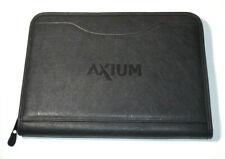 Gemline Leather Padfolio Zipper Folder Notebook Case Resume Holder Organizer Blk