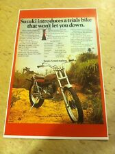 Vintage Suzuki Tl250 Trials Bike Motorcycle Poster Advertisement Man Cave Art