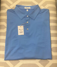Peter Millar Crown Sport Long Sleeve Polo Shirt Blue. XXL. $89