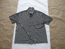 Vintage Dangerous Willie Polyester Button Short Sleeve Shirt Sz Med(Made in USA)