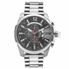 Diesel Authentic Watch DZ4308 Silver Mega Chief Chronograph 51mm