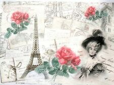 Rice Paper for Decoupage, Scrapbooking, Sheet Craft Vintage Paris &  Lady