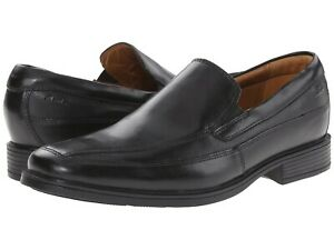 Clarks Tilden Free Black Leather Loafer Drees Shoes Men's Size 8.5M NEW