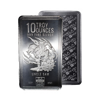 10 oz Envela 0.999 Silver Bar - CV Uncle Sam Stamped - July Edition