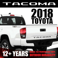 NEW 2018 [Matte Black] TOYOTA TACOMA Vinyl Decal Tailgate Letters Insert Sticker