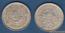 Maroc - 500 Francs (3) 1956 / 1376 H. Mohamed V argent Silver - Morroco