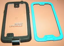 Lifeproof nuud Waterproof hard case for Galaxy S4, Blue & Black + audio adapter