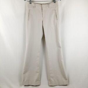 Banana Republic 718 Martin Fit Trouser Women Size 4 Cream Bootcut