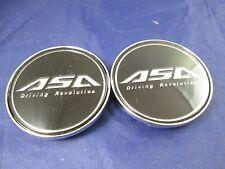 ASA BLACK  CUSTOM WHEEL CENTER CAPS*           #AR6/ #AR6-CAP    (FOR 2 CAPS)