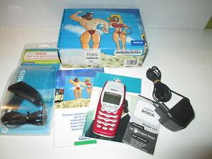 NOKIA 3410 TELEPHONE ancien Cellulaire Rouge avec accessoires boite et notice