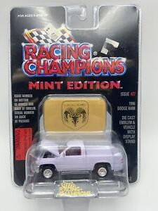 Racing Champions Mint Edition Issue #27 White 1996 Dodge Ram 1/64 FREE SHIPPING