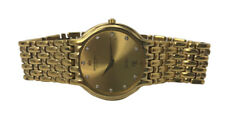 Rare Vintage Raymond Weil Diamond Gold Tone Swiss Quartz Fidelio 32mm Watch