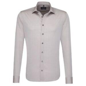 Seidensticker Langarm Business Hemd Tailored Kent braun Gr. 45 / 247026.23