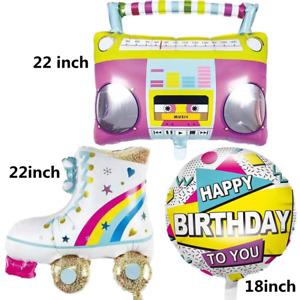 18/ 22'' Radio Roller Skates Balloon kid Birthday Party Decor Supplies Balloons