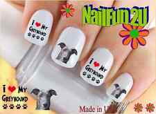 "RTG Set#172 DOG BREED ""Greyhound Love 1 Spanish"" WaterSlide Decals Nail Transfer"