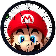 Super Mario Black Frame Wall Clock F63