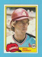 BASEBALL - TOPPS  GUM  -  MIKE  RAMSEY  -  SS-2B  -  CARDINALS  -  1981