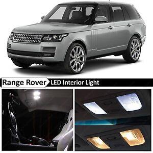 24x White LED Lights Interior Package For 2002-2012 Land Rover Range Rover L322