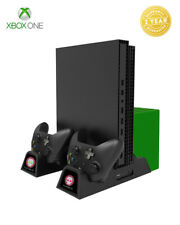 Xbox One Vertical Stand Controller Charging Station, Cooling Fan & Game Holder