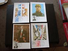 FRANCE - 4 cartes 1er jour 9/11/1971 (general de gaulle) (cy41) french