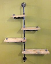 Industrial Urban Rustic Iron Pipe Four Tier shelf (Pick your own stain)