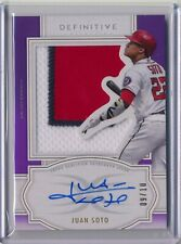 2020 Topps Definitive Juan Soto Auto Patch SSP 9 of /10 Washington Nationals!!!
