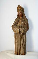 Statue en bois doré et laqué Notre Dame de la Salette XIXe Siècle