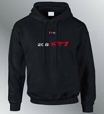 Sweat shirt Hoodie personnalise 208 GTI S M L XL XXL auto capuche sweatshirt