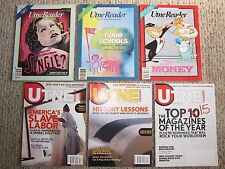 6 Vintage Utne Reader Magazine Mixed Lot, '89/'90/'92/'07 ALTERNATIVE PRESS