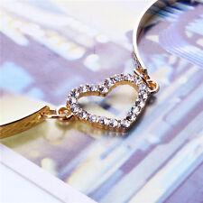 New Fashion Women Cute Gold Love Heart Bangle Cuff Bracelet Jewelry Gift